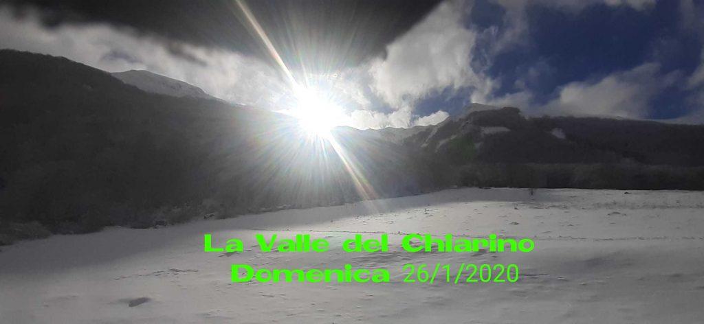 La Valle del Chiarino. Domenica 26/1/2020.