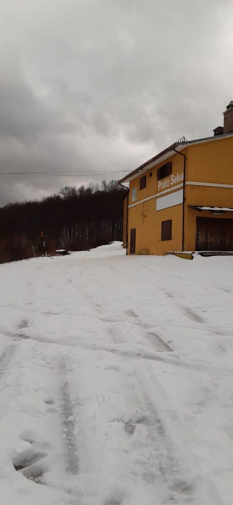 Tramonto con Luna Piena a Prato Selva di Fano Adriano (TE).