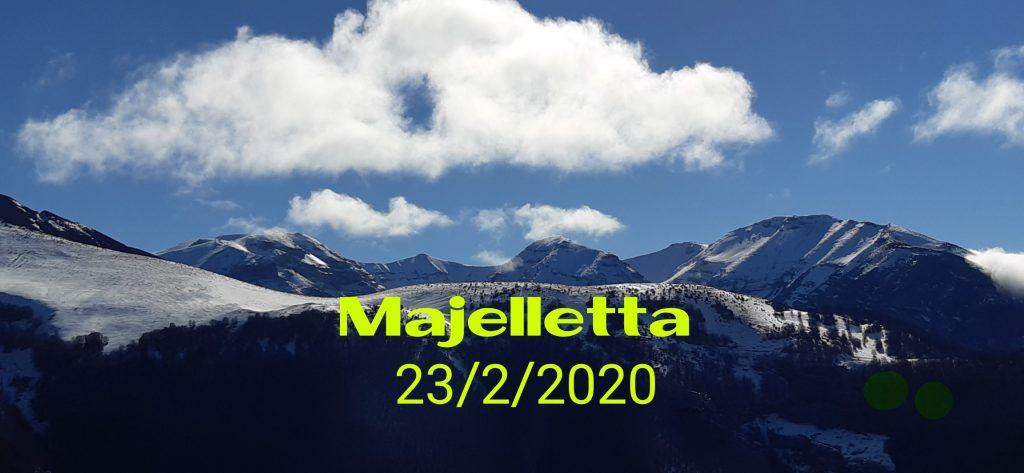 Ciaspotrek alla Majelleta. Domenica 23/2/2020.